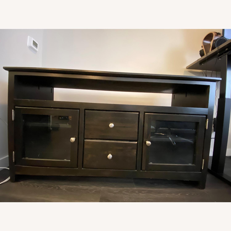 Wooden Smoke Black TV/Media Stand - image-0