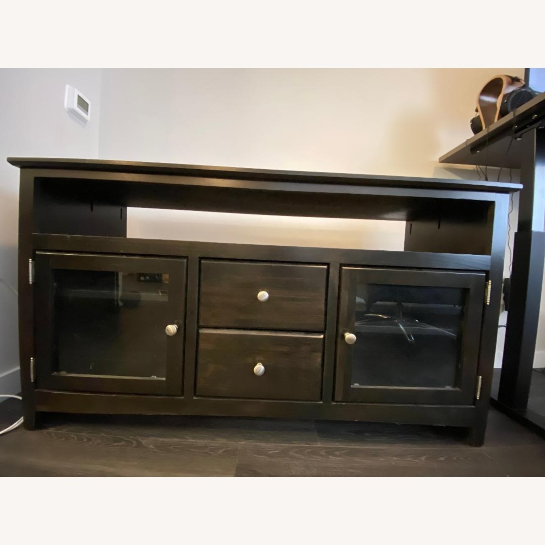 Wooden Smoke Black TV/Media Stand - image-4