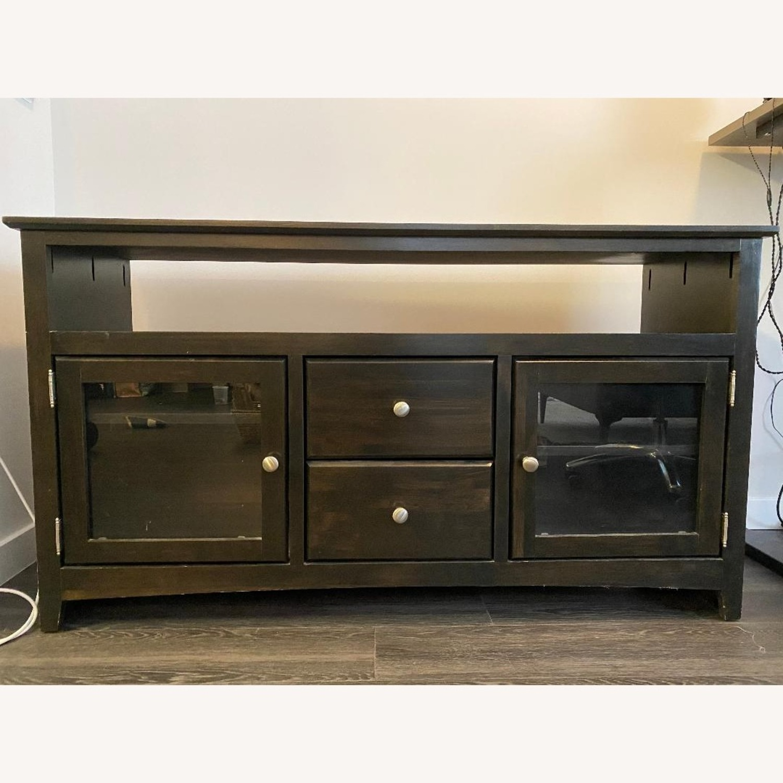 Wooden Smoke Black TV/Media Stand - image-3