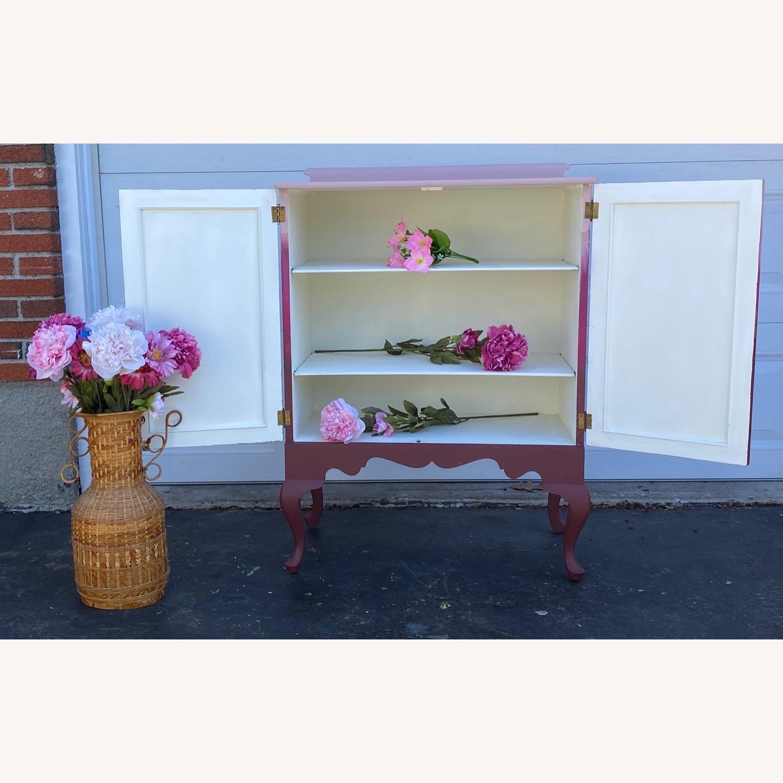 Vintage Pink Ombr Floral Cabinet - image-4