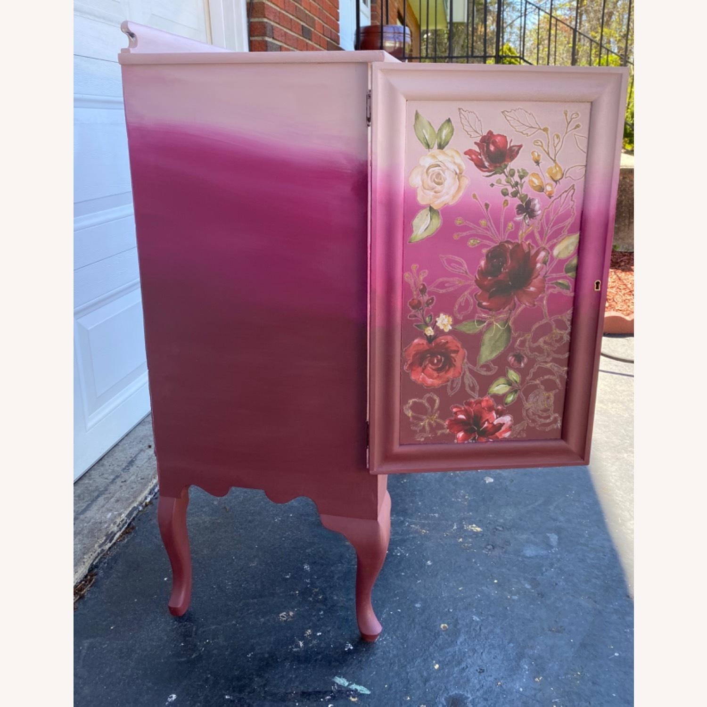 Vintage Pink Ombr Floral Cabinet - image-11