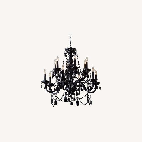 Used Horchow Grand Noir Black Crystal Chandelier for sale on AptDeco