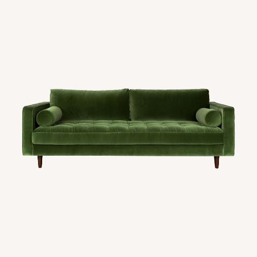 Used Article Sven Mid-Century Modern Sofa Grass Green for sale on AptDeco