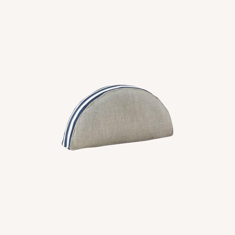 West Elm Mezzaluna Pillow, Stone Gray - image-0