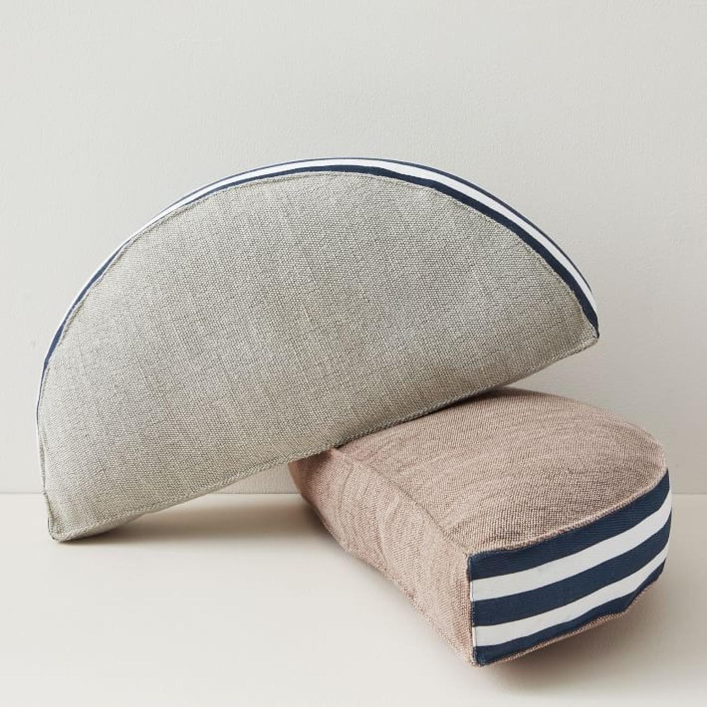 West Elm Mezzaluna Pillow, Stone Gray - image-2