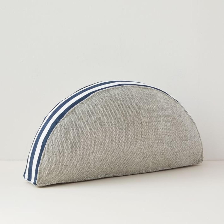 West Elm Mezzaluna Pillow, Stone Gray - image-1