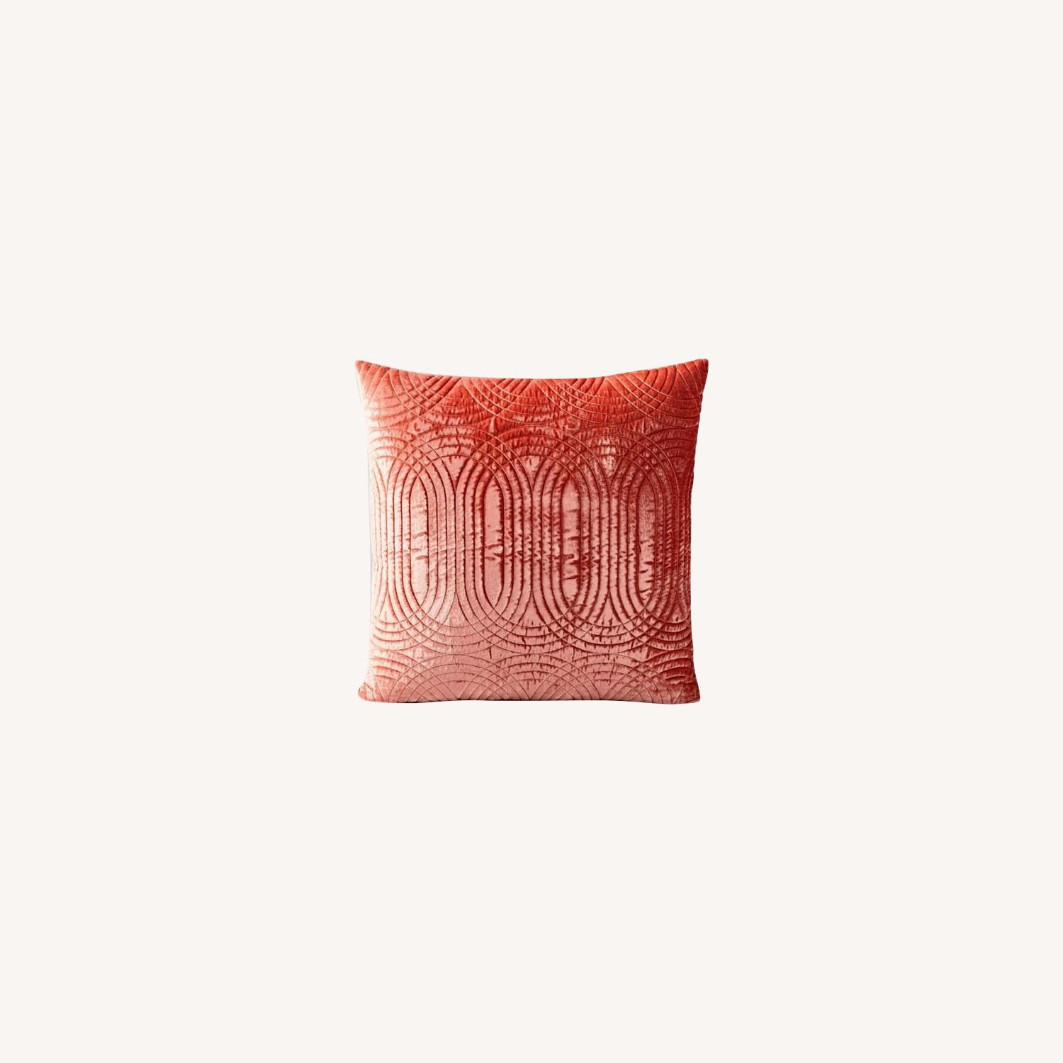 West Elm Lush Velvet Infinity Quilted Pillow - image-0