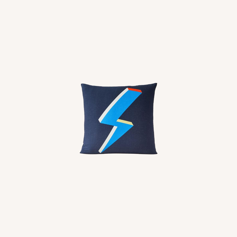West Elm Lightning Bolt Pillow - image-0