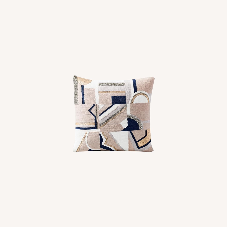 West Elm Embellished Deco Mix Pillow - image-0
