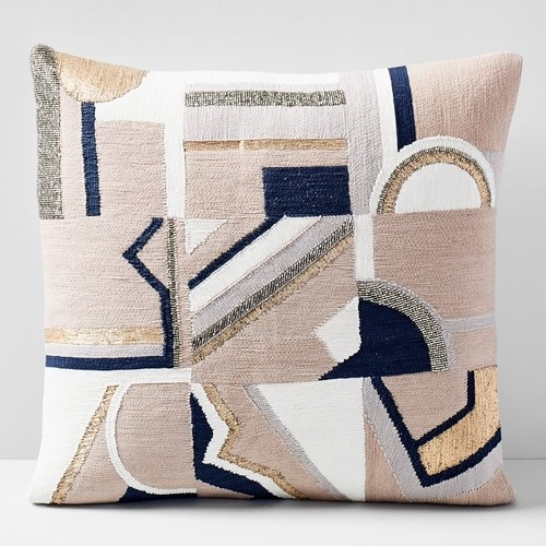 Used West Elm Embellished Deco Mix Pillow for sale on AptDeco