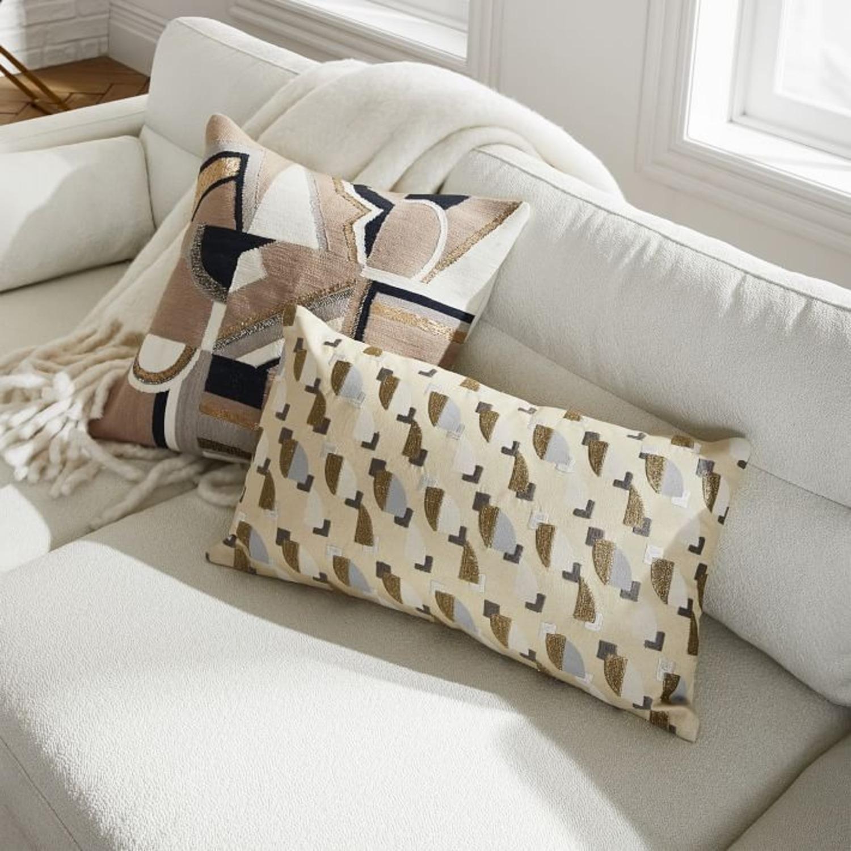 West Elm Embellished Deco Mix Pillow - image-3