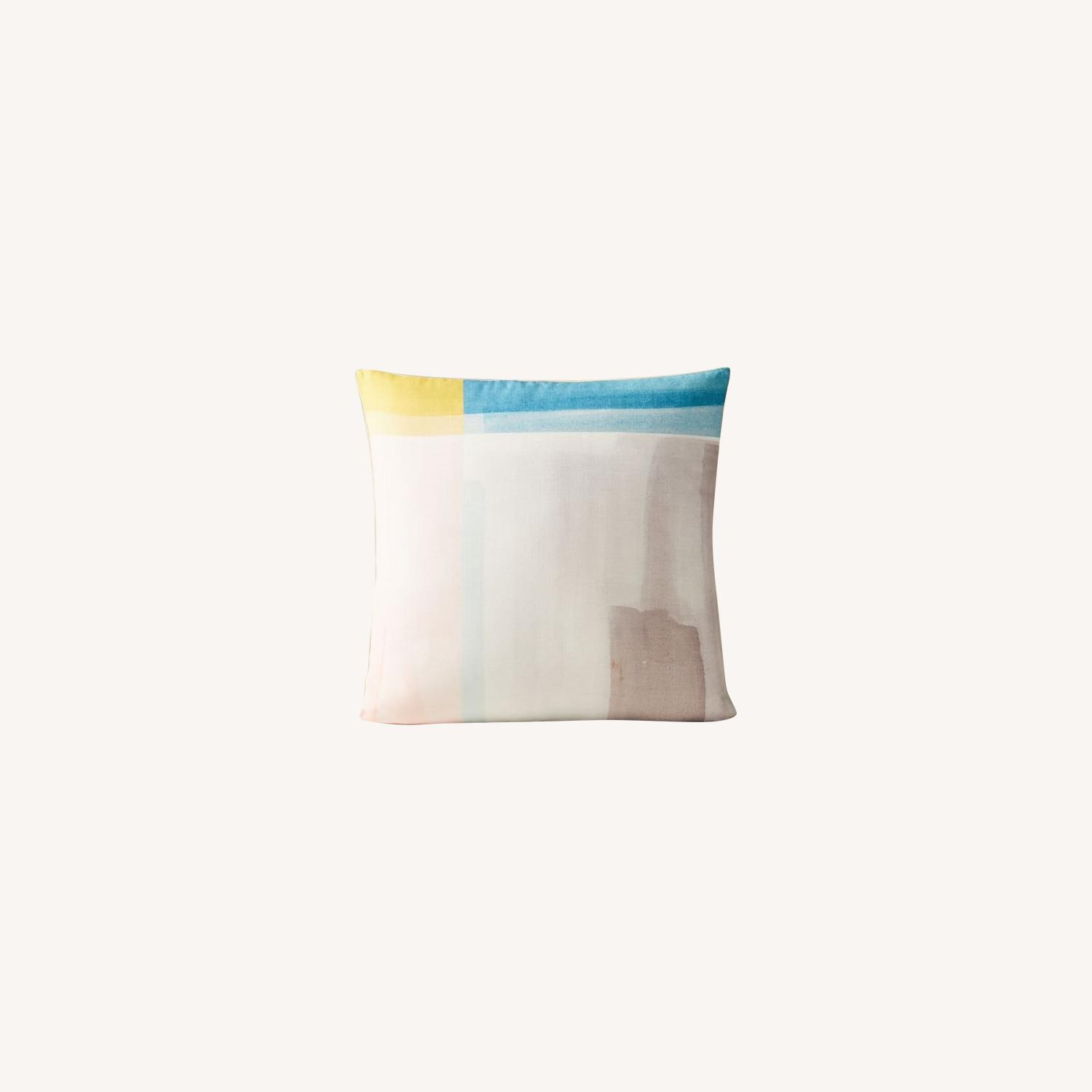 West Elm Abstract Color Field Pillow - image-0