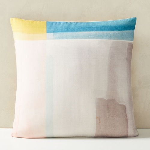 Used West Elm Abstract Color Field Pillow for sale on AptDeco