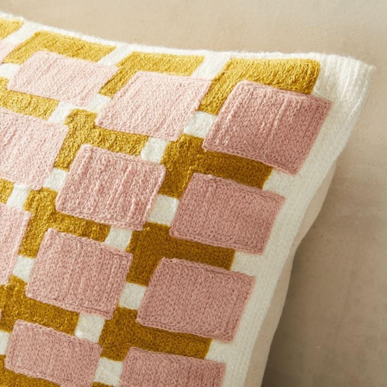 West Elm Block Grid Pillow - image-2