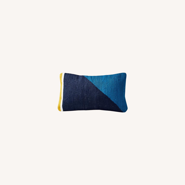 West Elm Spliced Colorfield Pillow - image-0