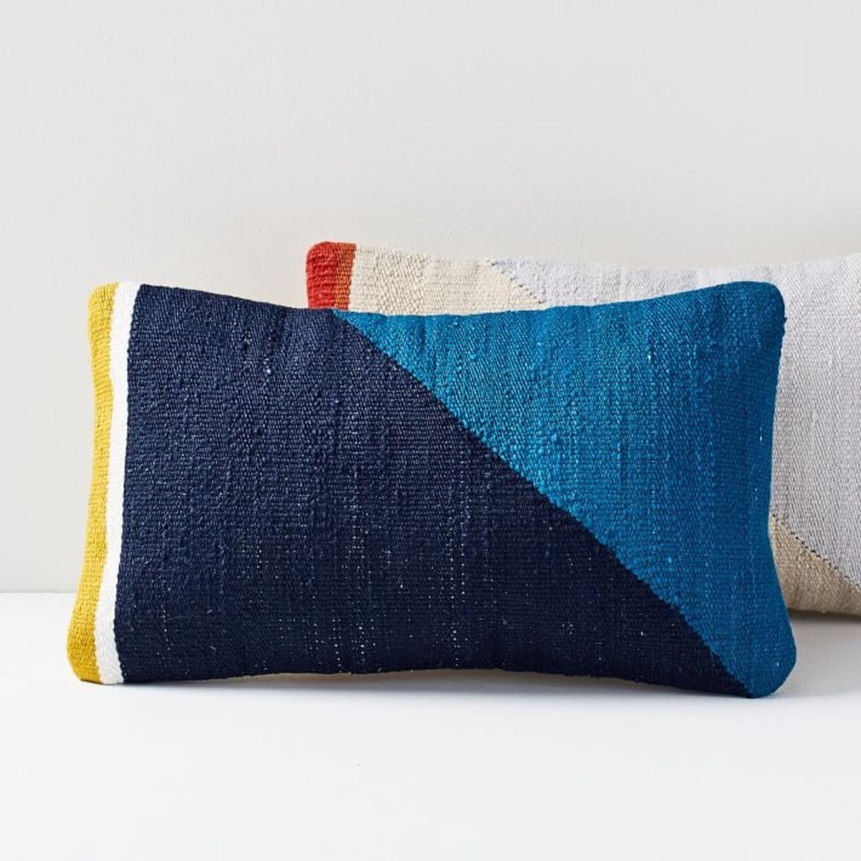 West Elm Spliced Colorfield Pillow - image-1