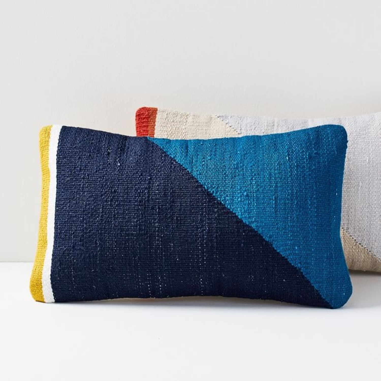 West Elm Spliced Colorfield Pillow - image-3