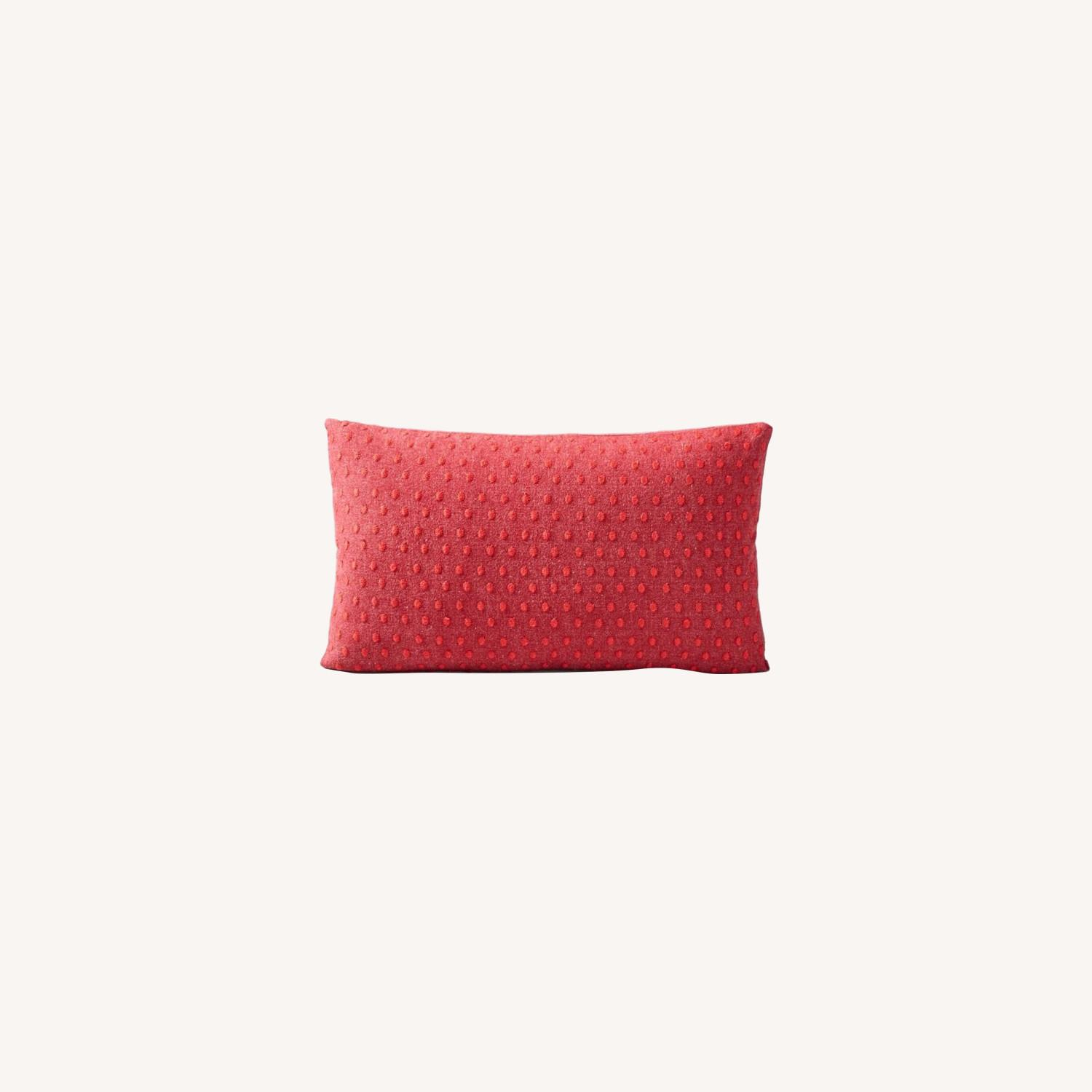 West Elm Embroidered Dot Pillow - image-0