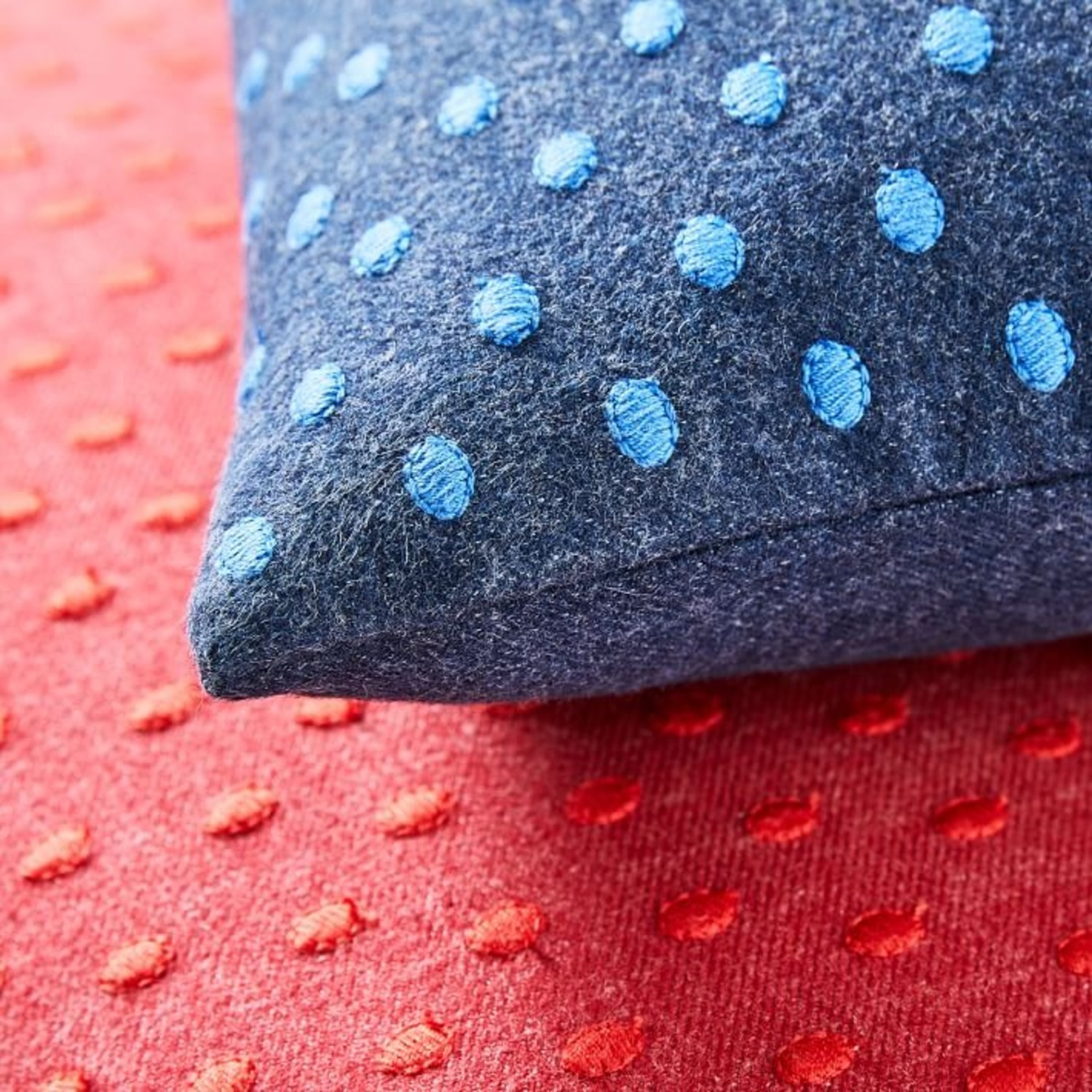 West Elm Embroidered Dot Pillow - image-1
