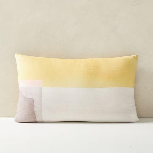 Used West Elm Watercolor Horizon Pillow for sale on AptDeco
