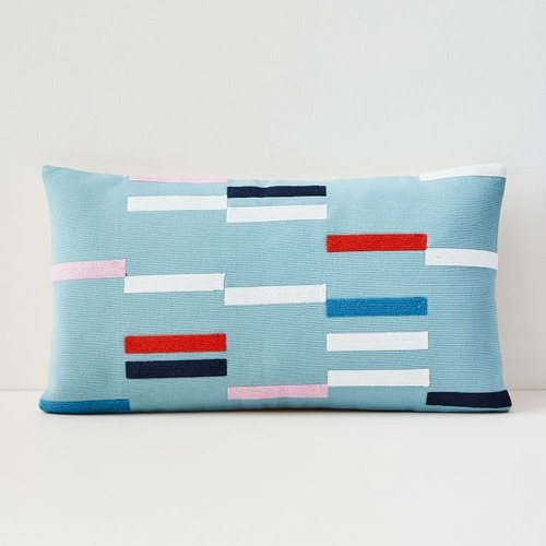 Used West Elm Margo Selby Staggered Stripe Pillow for sale on AptDeco