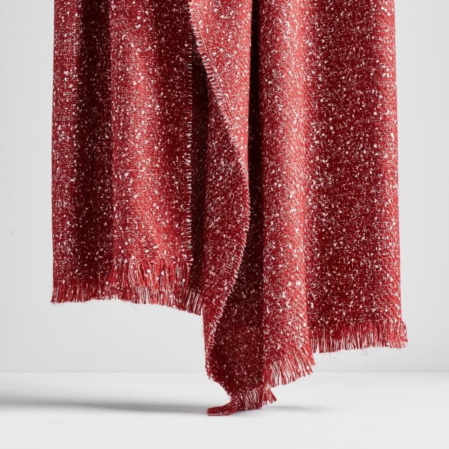West Elm Speckled Throw, City Red - image-1