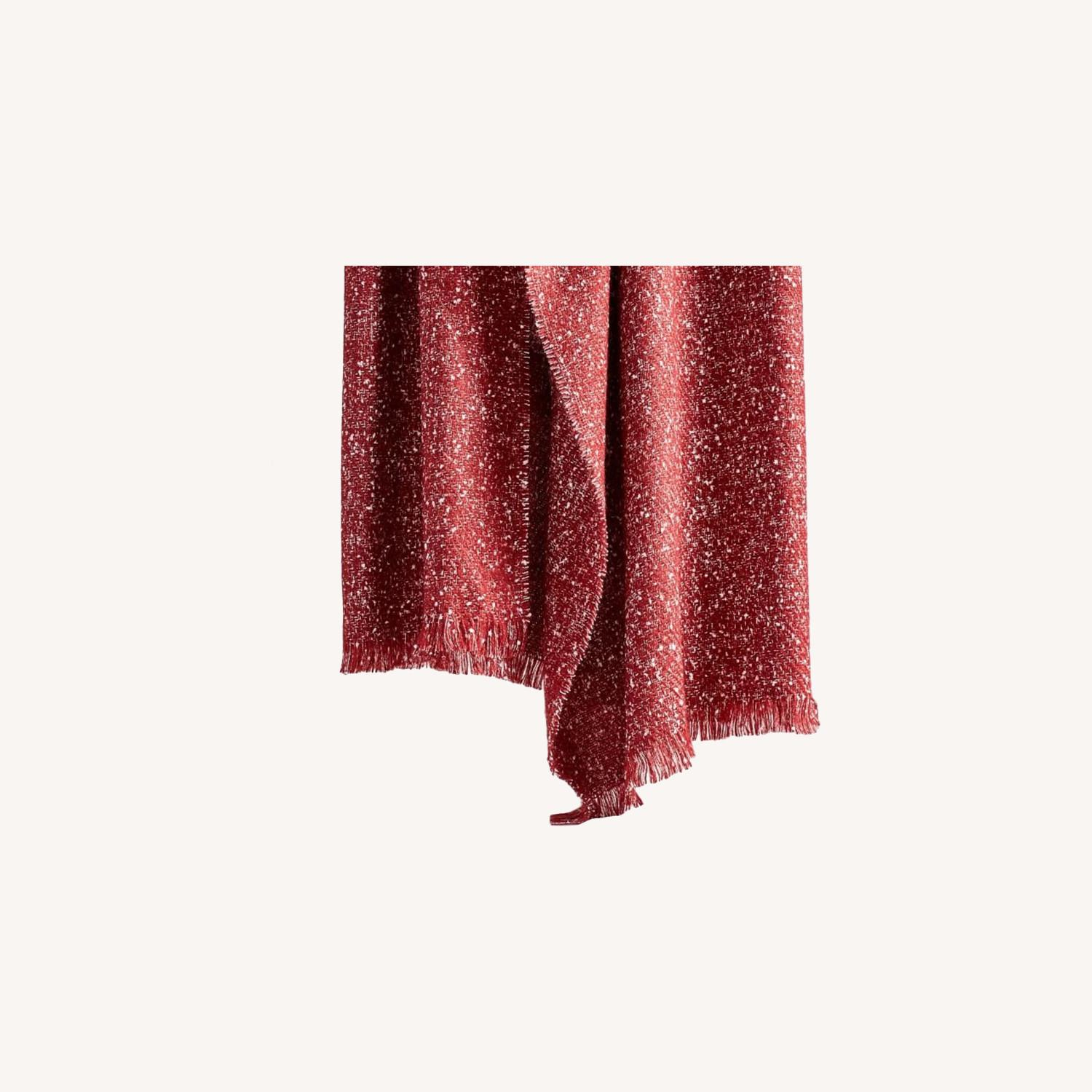 West Elm Speckled Throw, City Red - image-0