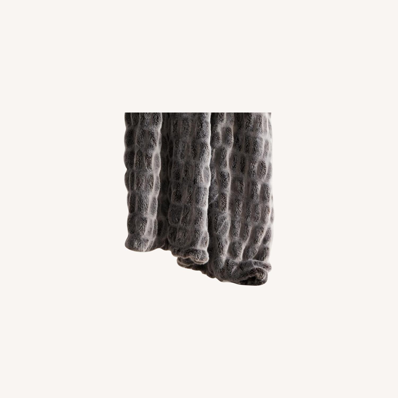 West Elm Faux Fur Cascade Throw - image-0