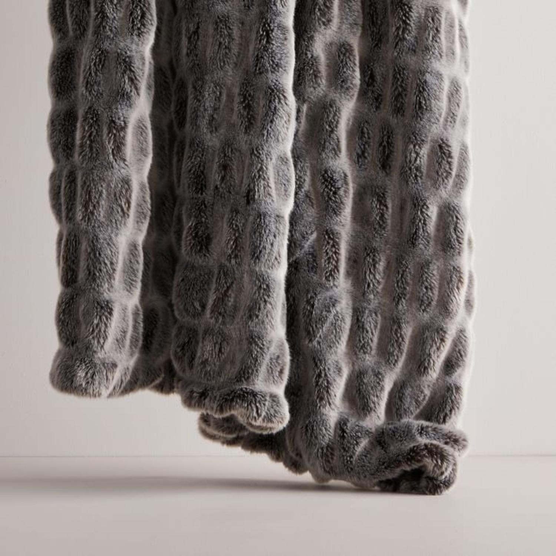 West Elm Faux Fur Cascade Throw - image-1
