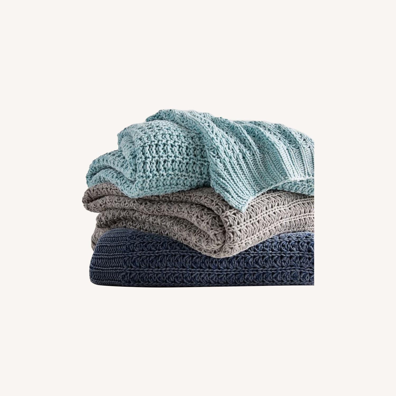 West Elm Stonewashed Knit Throw - image-0