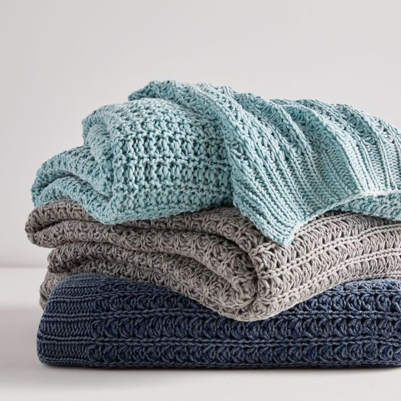West Elm Stonewashed Knit Throw - image-1