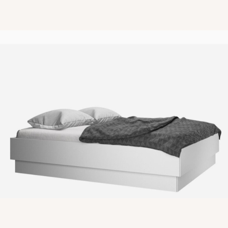 BoConcept Modern White Queen Storage Bed - image-1