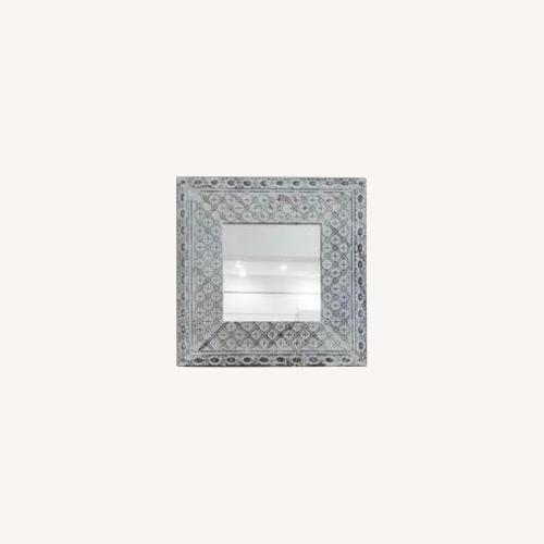Used Tin Mirror Made from Tin Ceiling Tiles for sale on AptDeco