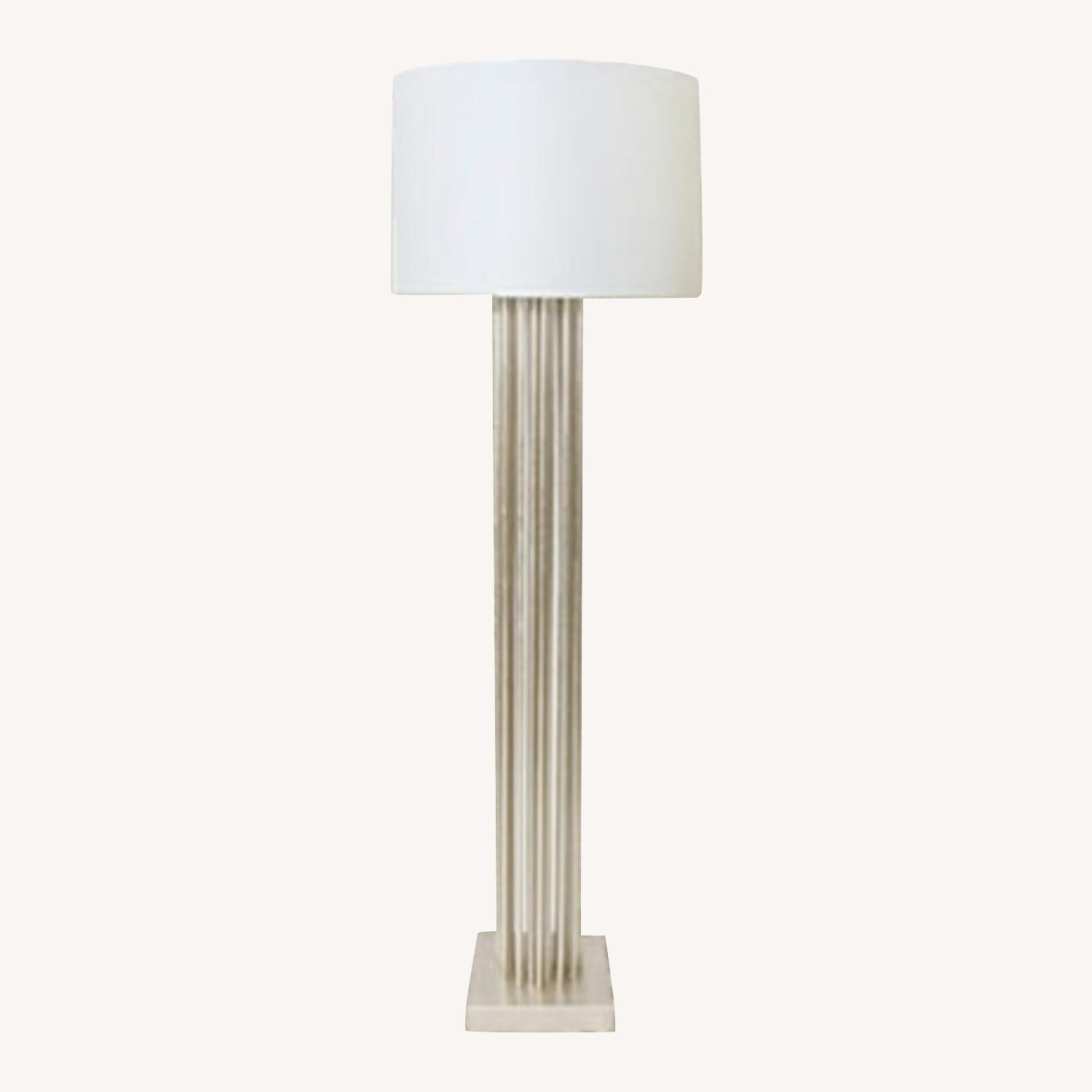 Worlds Away Gibson Silver Floor Lamp - image-0