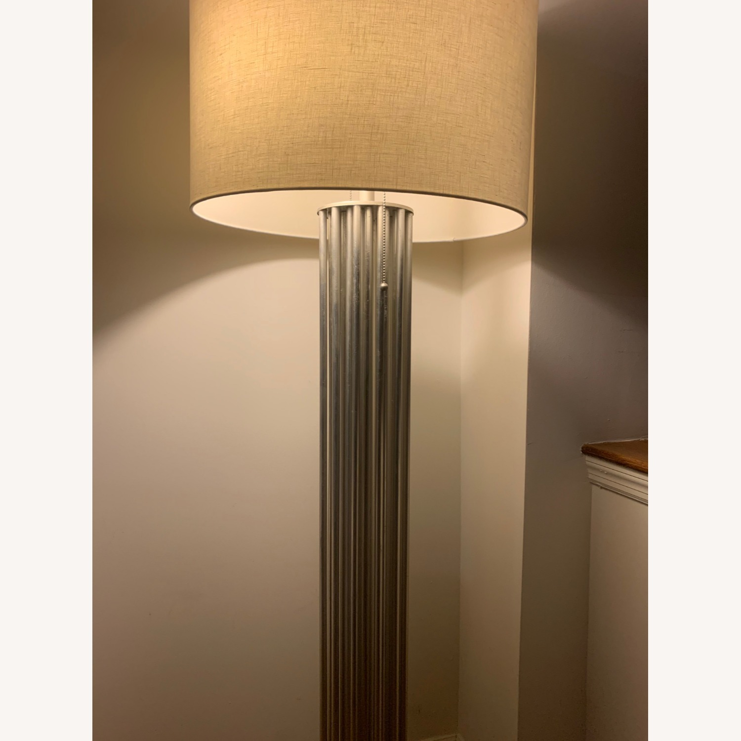 Worlds Away Gibson Silver Floor Lamp - image-3