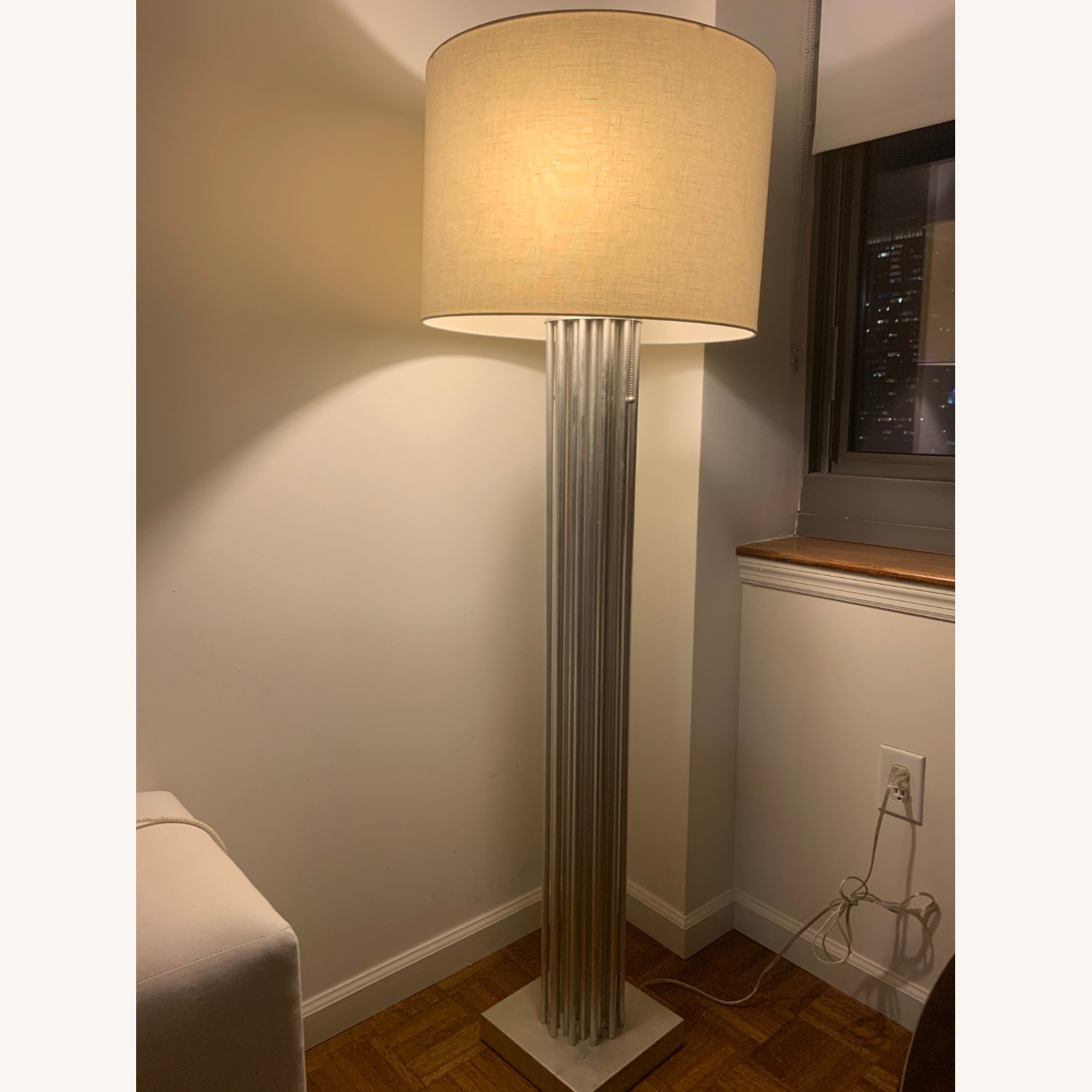 Worlds Away Gibson Silver Floor Lamp - image-2