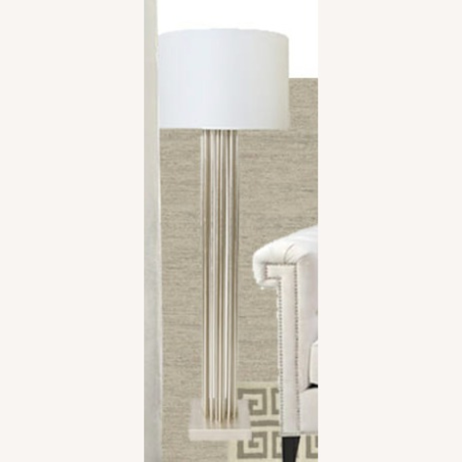 Worlds Away Gibson Silver Floor Lamp - image-1