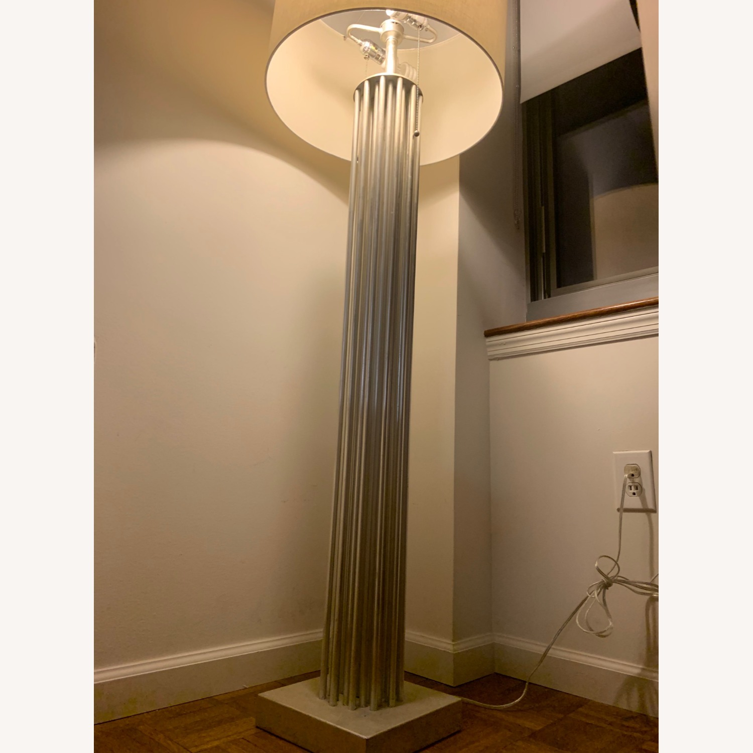 Worlds Away Gibson Silver Floor Lamp - image-4