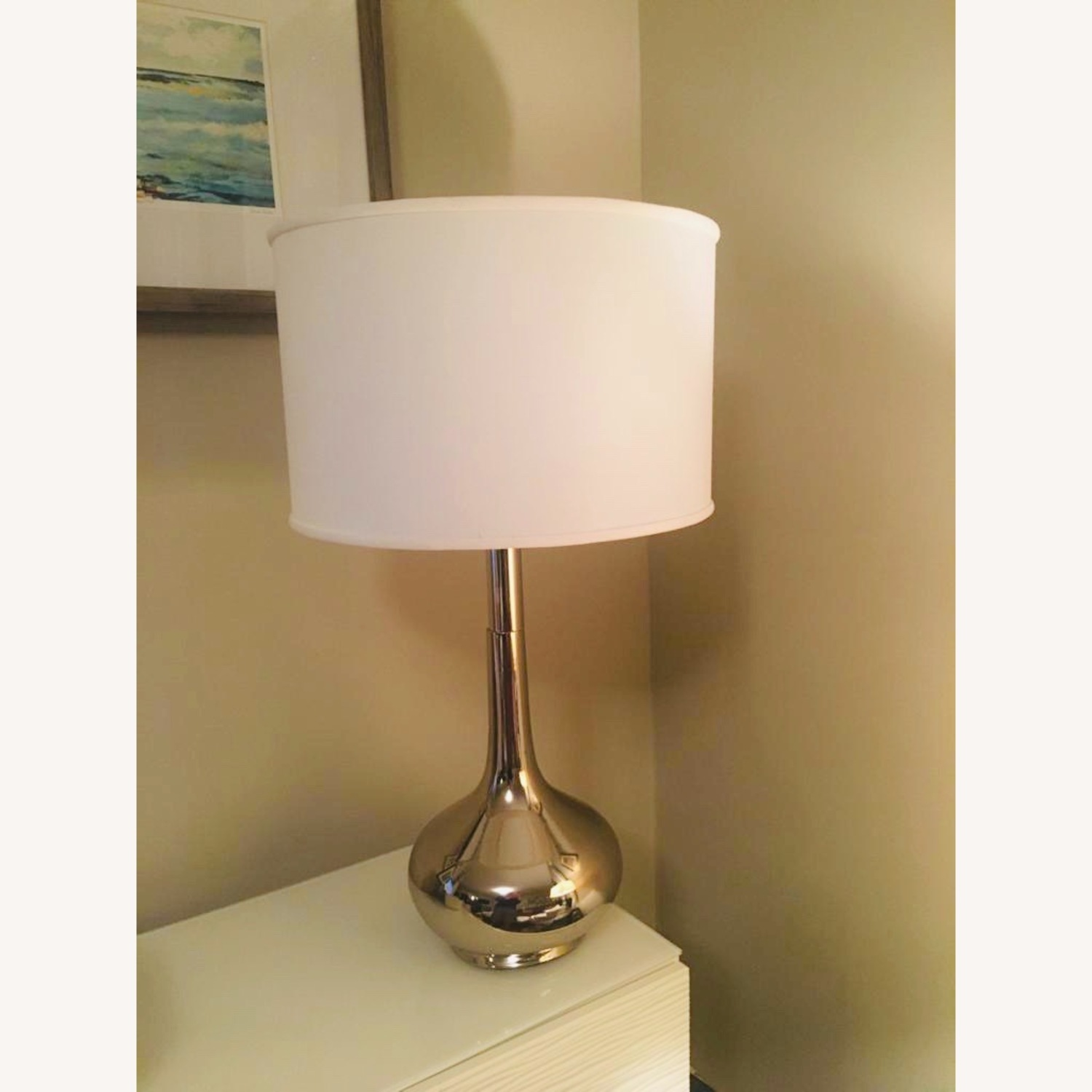 Home Goods Metal Based Lamps & Large Drum Shades (2) - image-5