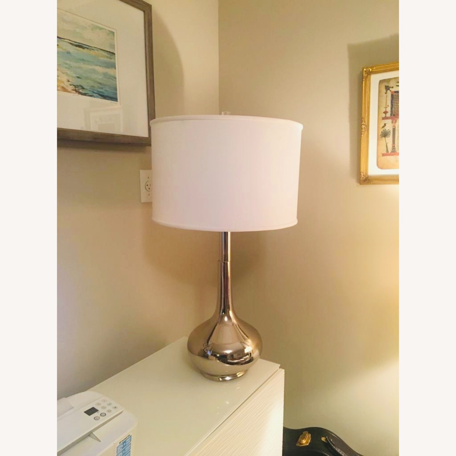 Home Goods Metal Based Lamps & Large Drum Shades (2) - image-4