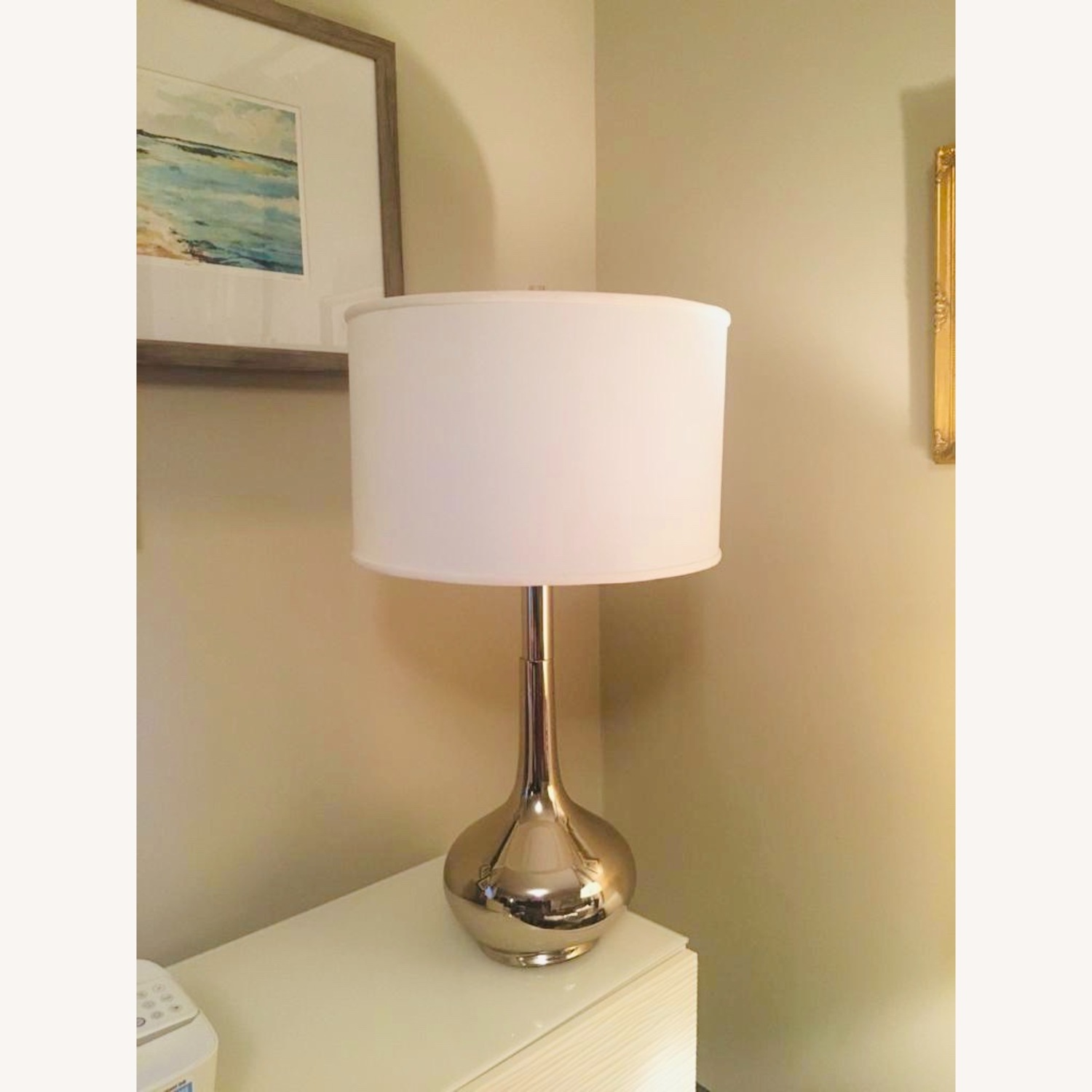 Home Goods Metal Based Lamps & Large Drum Shades (2) - image-3