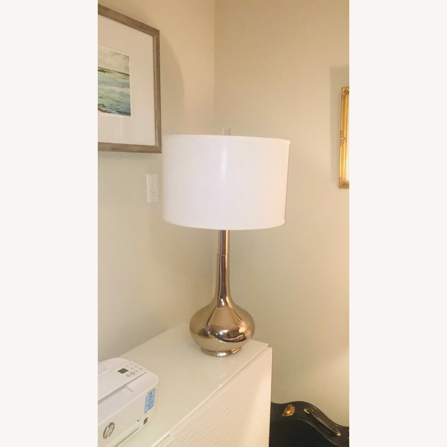 Home Goods Metal Based Lamps & Large Drum Shades (2) - image-2