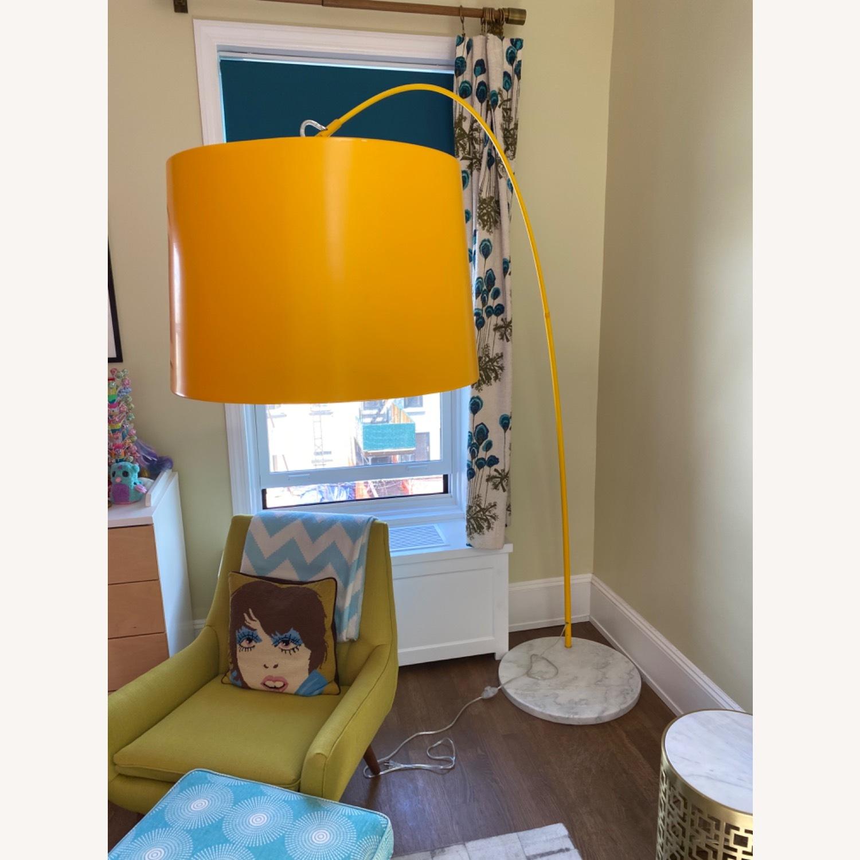 Yellow Zuo Floor Lamp w Marble Base - image-8