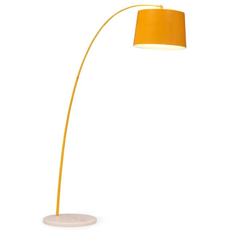 Yellow Zuo Floor Lamp w Marble Base - image-0
