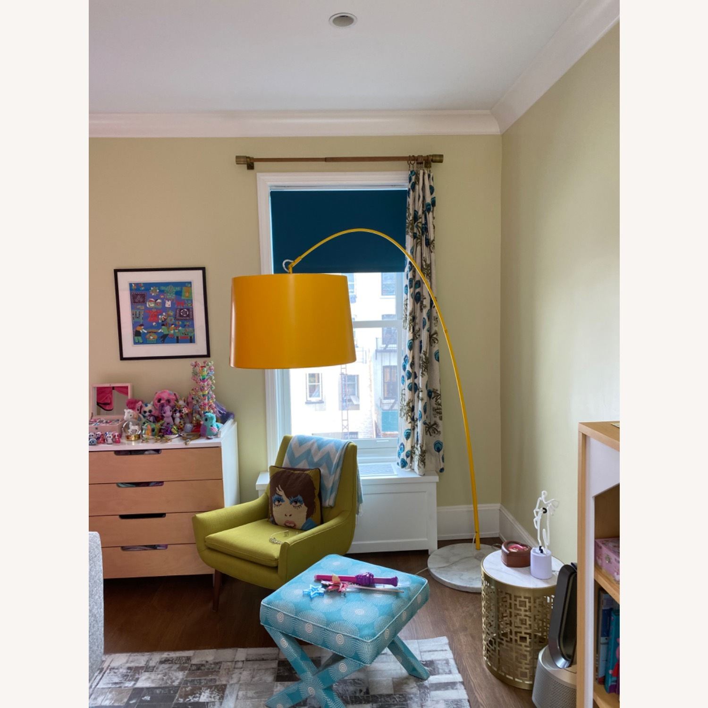 Yellow Zuo Floor Lamp w Marble Base - image-5