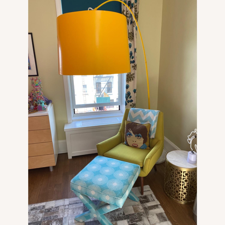 Yellow Zuo Floor Lamp w Marble Base - image-7