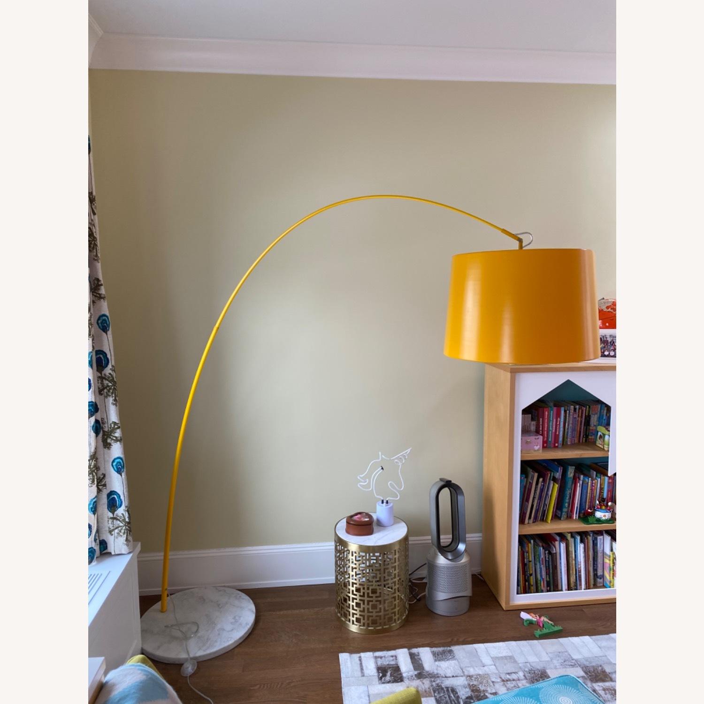 Yellow Zuo Floor Lamp w Marble Base - image-3