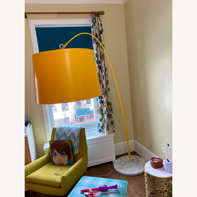 Yellow Zuo Floor Lamp w Marble Base - image-1