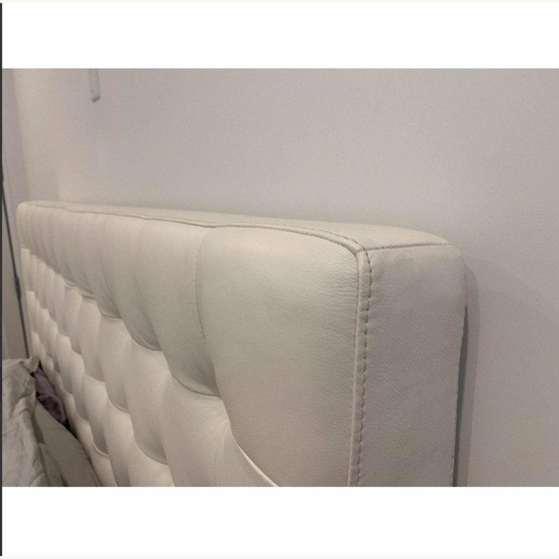 Nuevo Living Upholstered White Platform Bed - image-1