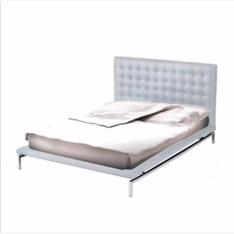 Nuevo Living Upholstered White Platform Bed - image-0